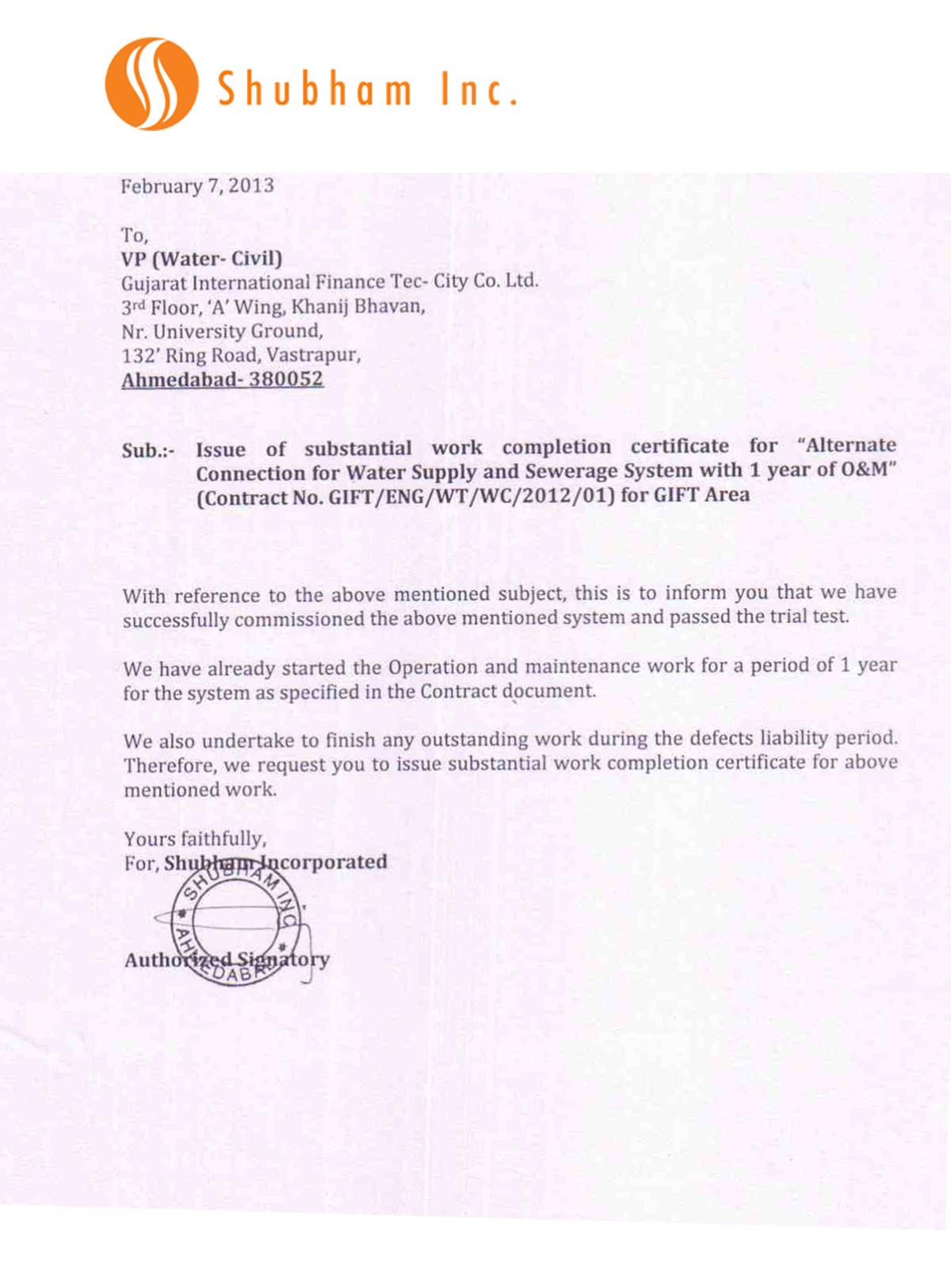Testimonials Sewage Treatment Plant Ahmedabad