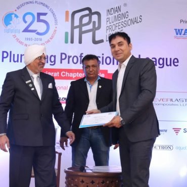"Mr. Vinod Malviya has received ""Certificate Of Appreciation For Active Participation In Indian Plumbing Professionals League"""
